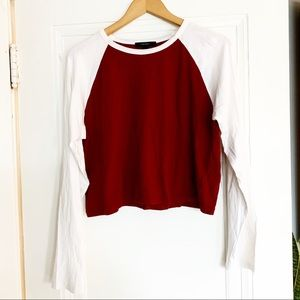 Forever 21 Cropped Baseball Shirt
